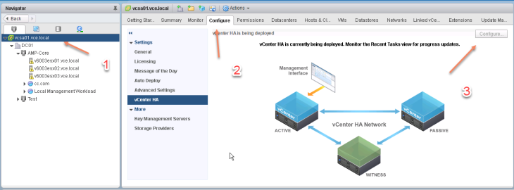 vSphere6 5 vCenter HA Configuration and vCenter Fail Over – https